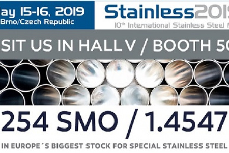 We will be presenting our products: Stainless 2019